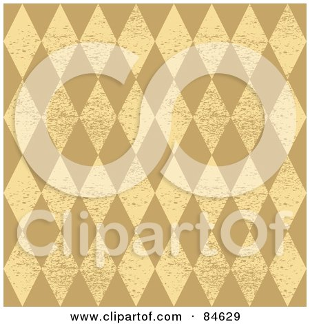 Royalty-Free (RF) Clipart Illustration of a Seamless Repeat Background Of Grungy Beige And Tan Diamonds by BestVector