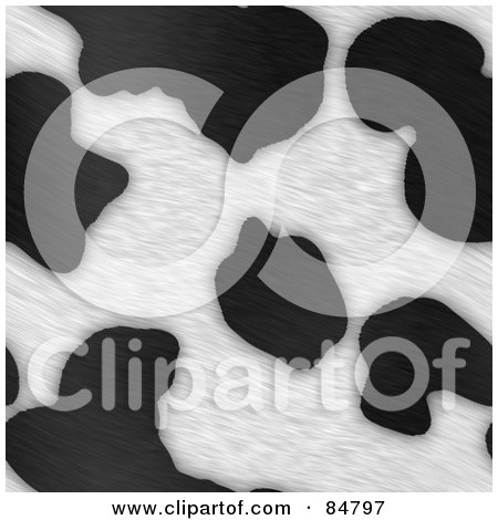 Royalty-Free (RF) Clipart Illustration of a Background Of Black And White Dairy Cow Fur Print Pattern by Arena Creative