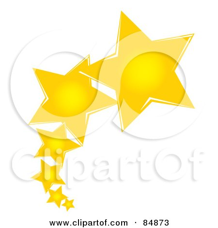 Royalty free rf clipart illustration of a golden