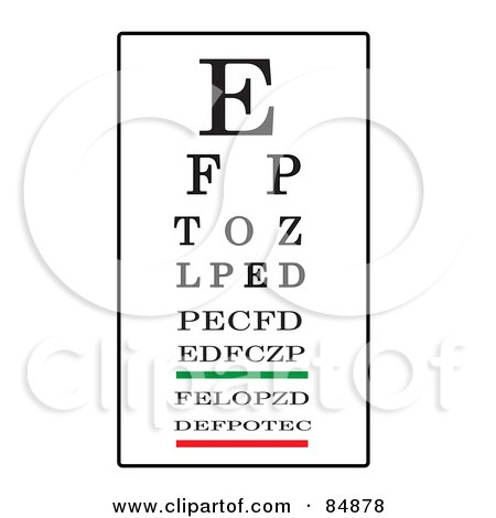 Royalty-Free (RF) Clipart Illustration of a Black, White, Green And Red Eye Chart by Pams Clipart