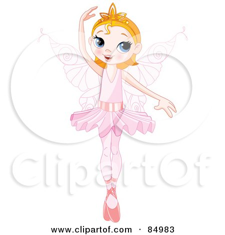 Pretty Ballerina Fairy Dancing With One Arm Over Her Head Posters, Art Prints
