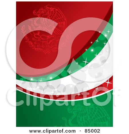 Red, Green And White Sparkly Mexican Colored Background Posters, Art Prints