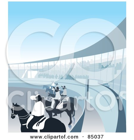 Charreria Arena With Riders On Horses Posters, Art Prints