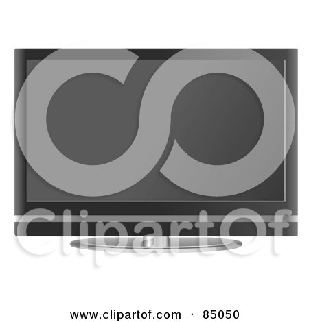 Royalty-Free (RF) Clipart Illustration of a Flat Screen Television Set by mheld