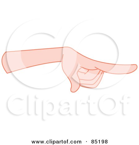 Royalty-Free (RF) Clipart Illustration of a Gesturing Hand Sternly Pointing by yayayoyo
