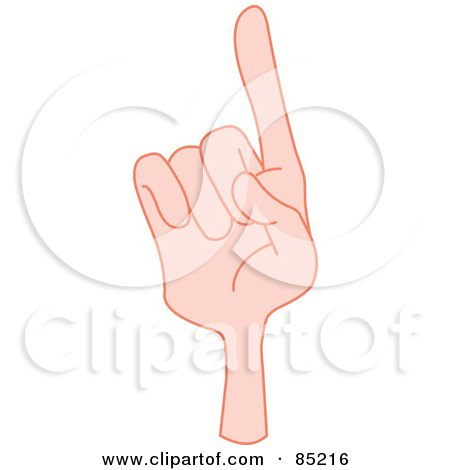 Royalty-Free (RF) Clipart Illustration of a Gesturing Hand Smartly Pointing by yayayoyo