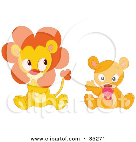 Royalty-Free (RF) Baby Lion Clipart, Illustrations, Vector Graphics #1