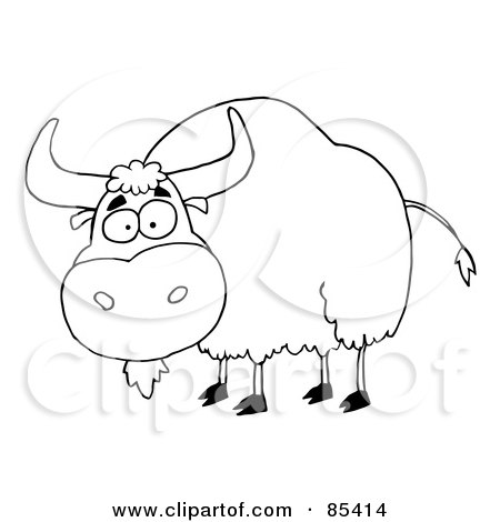 Yak clipart black and white - photo#13