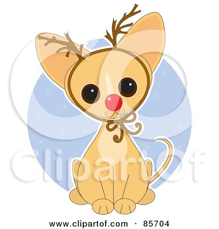 Adorable Christmas Rudolph Chihuahua Puppy Posters, Art Prints