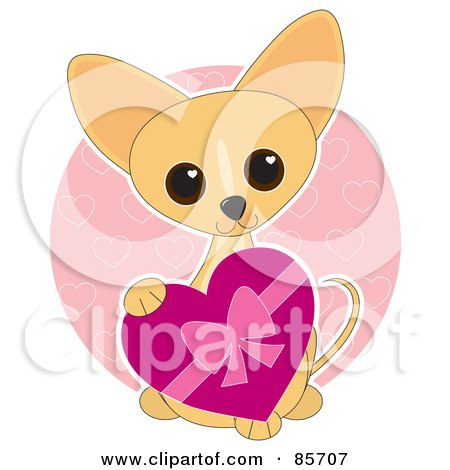 Adorable Valentine's Day Chihuahua Puppy Posters, Art Prints