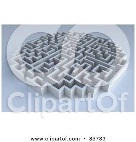 Royalty-Free (RF) Clipart Illustration of a Rounded 3d Maze On Gray by Mopic