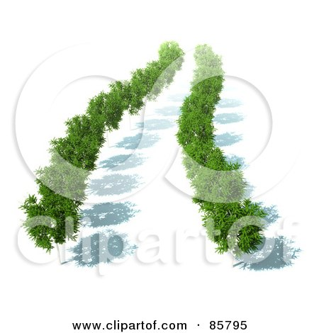 Royalty-Free (RF) Clipart Illustration of an Aerial View Down On 3d Trees With Green Foliage And Shadows by Mopic
