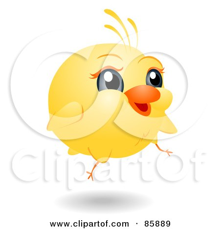 Royalty-Free (RF) Clipart Illustration of an Adorable Big Head Baby Chick by BNP Design Studio