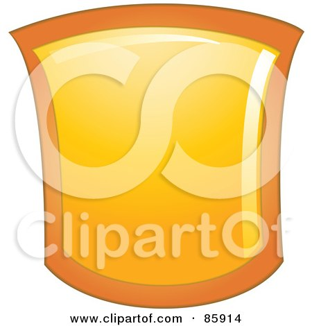 Royalty-Free (RF) Clipart Illustration of a Shiny Golden Shield by elaineitalia