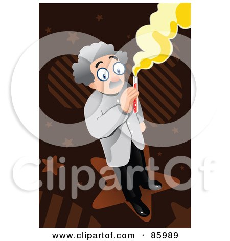 Royalty-Free (RF) Clipart Illustration of a Male Doctor Holding a Test Tube by mayawizard101