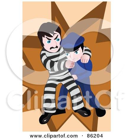 Police Offer Wrestling With A Prisoner Posters, Art Prints