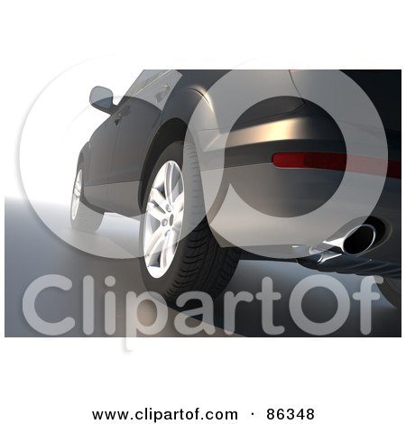 Royalty-Free (RF) Clipart Illustration of a Rear Side View Of The Exhaust Pipe On A Car by Mopic