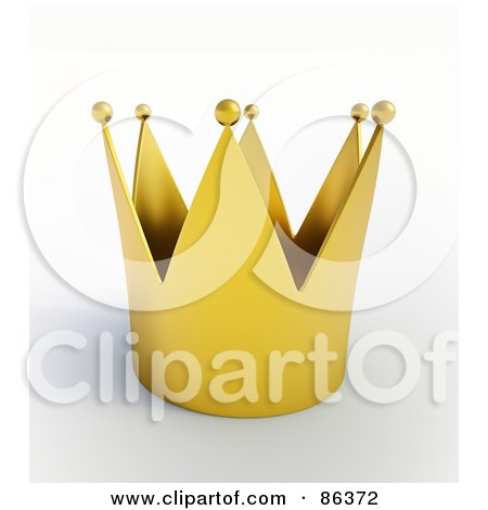 Royalty-Free (RF) Clipart Illustration of a 3d Golden Kings Crown With Balls At The Tips by Mopic