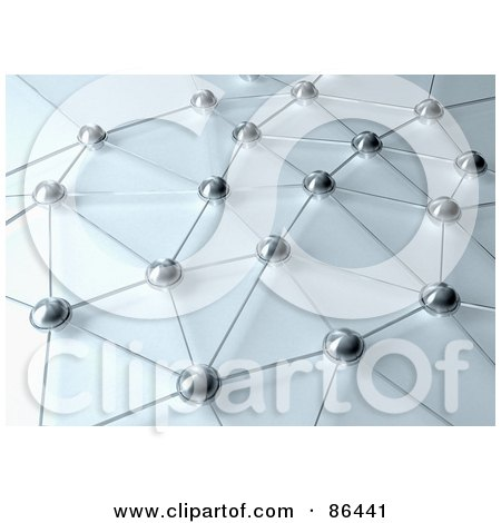 Royalty-Free (RF) Clipart Illustration of a Network Of Connected Orbs And Lines by Mopic