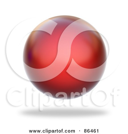 Royalty free rf clipart illustration of a floating 3d red sphere