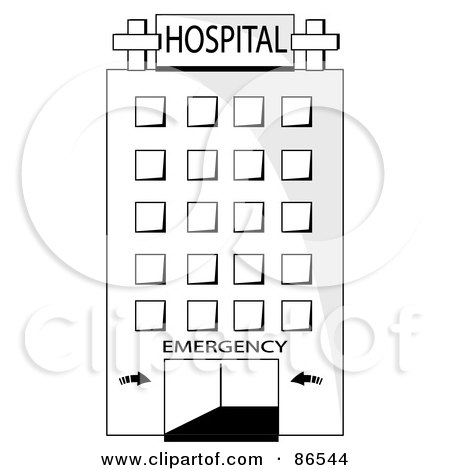 Hospital Building Coloring Pages