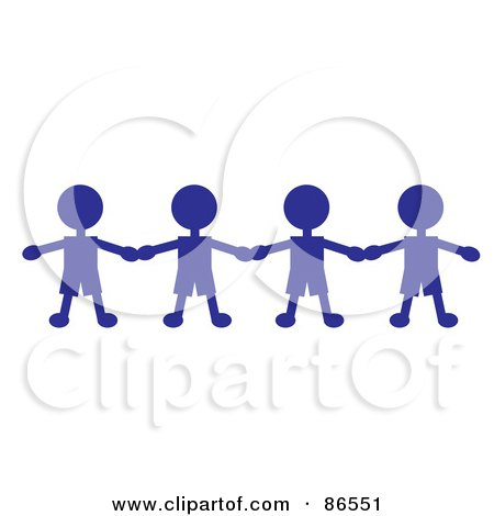 Of a black and white stick boy girl holding hands by pams clipart