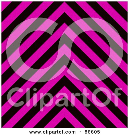 Royalty-Free (RF) Clipart Illustration of a Pink And Black Zig Zag Hazard Stripes Background by Arena Creative