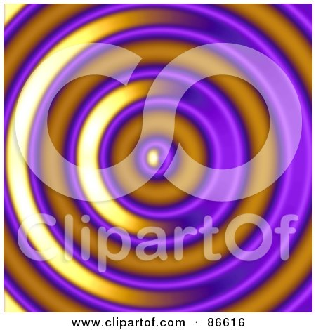 Royalty-Free (RF) Clipart Illustration of a Purple And Orange Ripple by Arena Creative