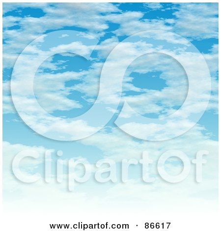 Royalty-Free (RF) Clipart Illustration of a Sky of Clouds by Arena Creative