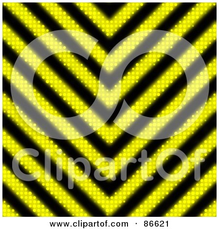 Royalty-Free (RF) Clipart Illustration of a Hazard Stripes Fabric Background by Arena Creative