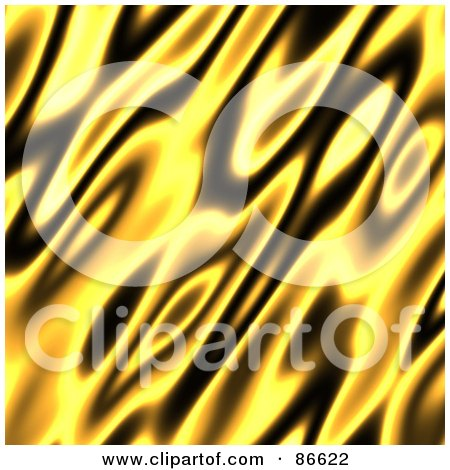 Royalty-Free (RF) Clipart Illustration of a Yellow And Black Flame Background by Arena Creative