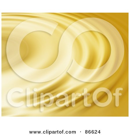 Royalty-Free (RF) Clipart Illustration of a Golden Ripply Surface by Arena Creative
