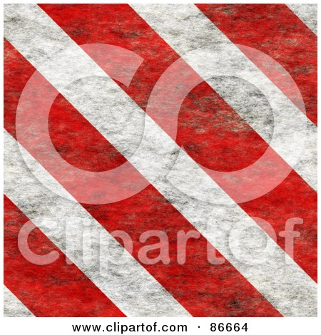 Royalty-Free (RF) Clipart Illustration of a Background Of Grungy Red And White Hazard Stripes by Arena Creative