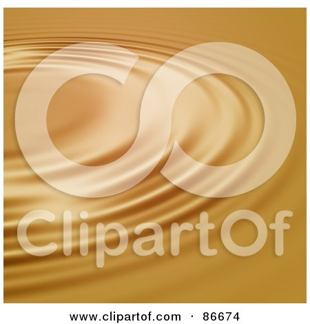 Royalty-Free (RF) Clipart Illustration of a Circular Golden Ripple Background by Arena Creative