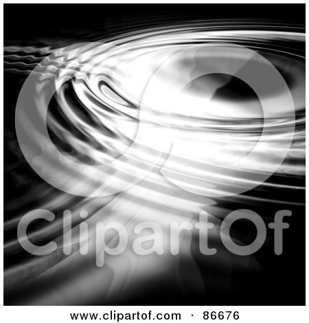 Royalty-Free (RF) Clipart Illustration of a Circular Dark Ripple Background by Arena Creative