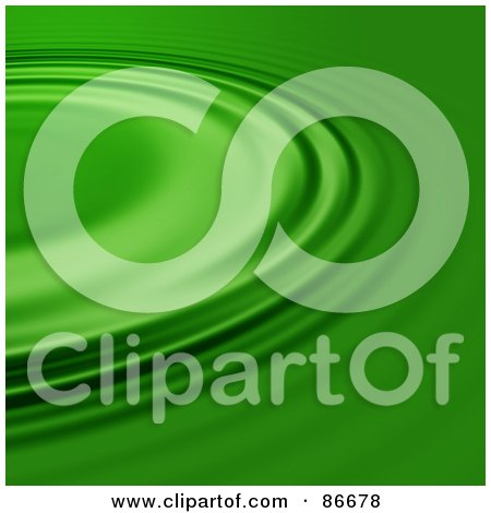 Royalty-Free (RF) Clipart Illustration of a Green Ripple Background by Arena Creative