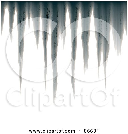 Royalty-Free (RF) Clipart Illustration of Hanging Gray Icicles On White by Arena Creative