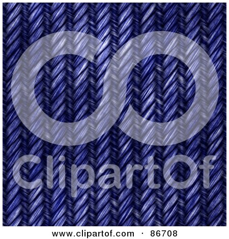Royalty-Free (RF) Clipart Illustration of a Weaved Blue Denim Texture Background by Arena Creative