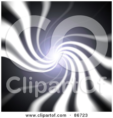 Royalty-Free (RF) Clipart Illustration of a Bright Swirling Light In A Dark Tunnel by Arena Creative