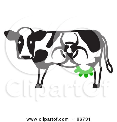 Toxic Dairy Cow With A Biohazard Marking And Green Udders Posters, Art Prints