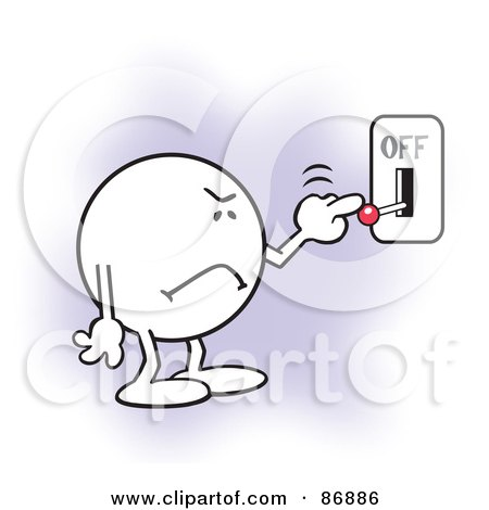 on off switch clipart. moodie character frowning and flipping a switch off by johnny sajem on clipart