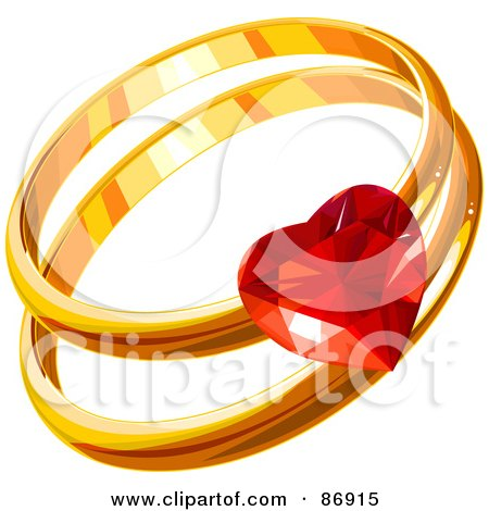 Clipart 3d Diamond Engagement Ring With A Gold Band ...