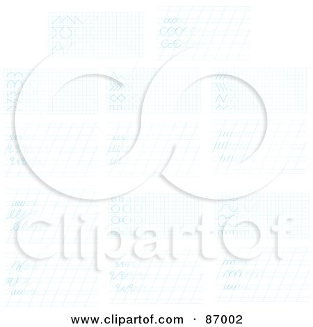 Sheet Of Blue Graph Paper Posters Art Prints by michaeltravers – Digital Graph Paper