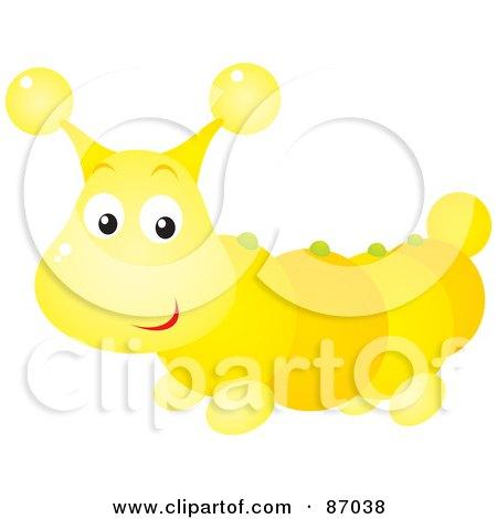 Royalty-Free (RF) Clipart Illustration of a Cute Shiny Caterpillar Bug by Alex Bannykh