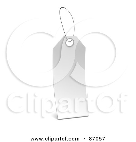 Royalty-Free (RF) Clipart Illustration of a Blank White 3d Label Tag by Tonis Pan