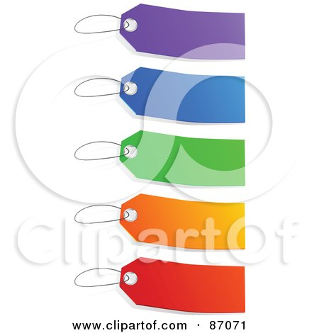 Royalty-Free (RF) Clipart Illustration of a Group Of Blank Colorful Sales Tags - Version 2 by Tonis Pan