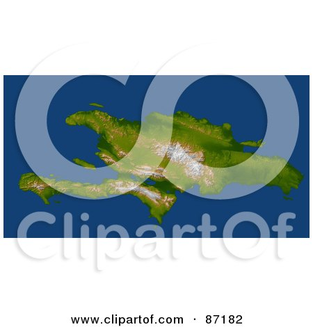 Royalty-Free (RF) Clipart Illustration of a 3d View Of The The Enriquillo Fault And Haiti, Hispaniola by JVPD
