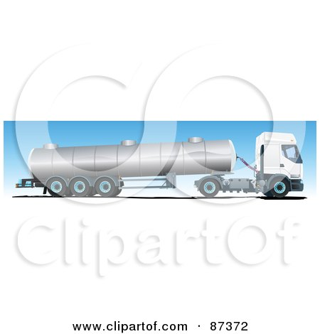 Royalty-Free (RF) Clipart Illustration of an Oil Big Rig Truck by Paulo Resende