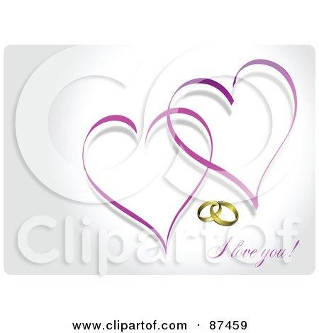 Purple Hearts Wedding Royalty-Free (RF) Clip...