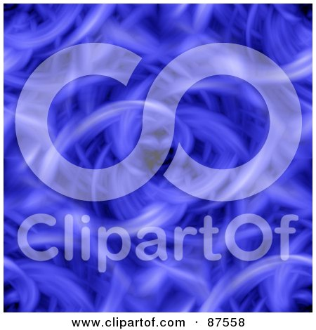 Royalty-Free (RF) Clipart Illustration of a Seamless Blue Whisp Vortex by oboy